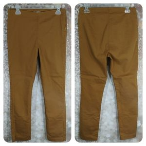 3/$15 H&M brown mustard fitted pants size 10